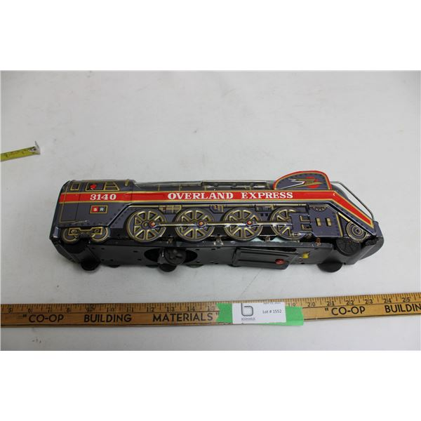 Overland Express Tin Train Battery Operated