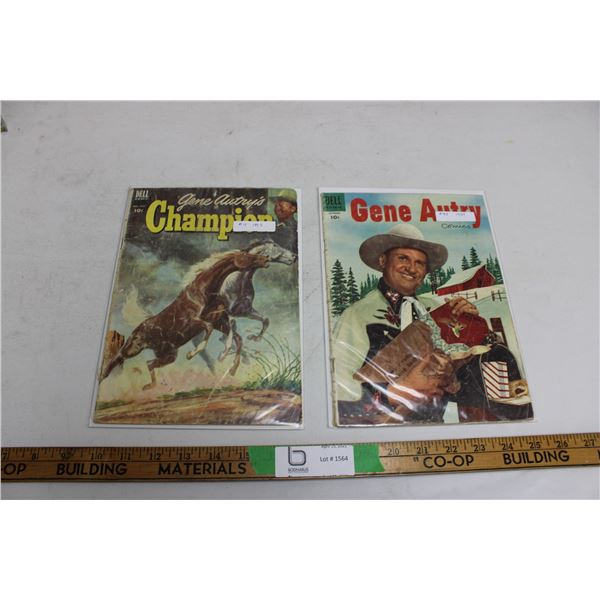 (2X THE MONEY) Gene Autry and Gene Autry Championships Comic Books