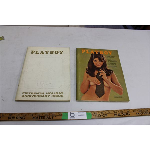(2X THE MONEY) 1969 January and April Playboys
