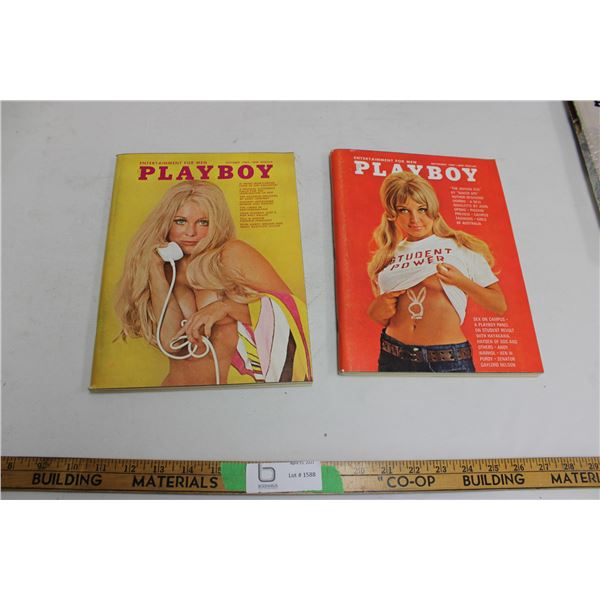 (2X THE MONEY) 1969 October and September Playboys