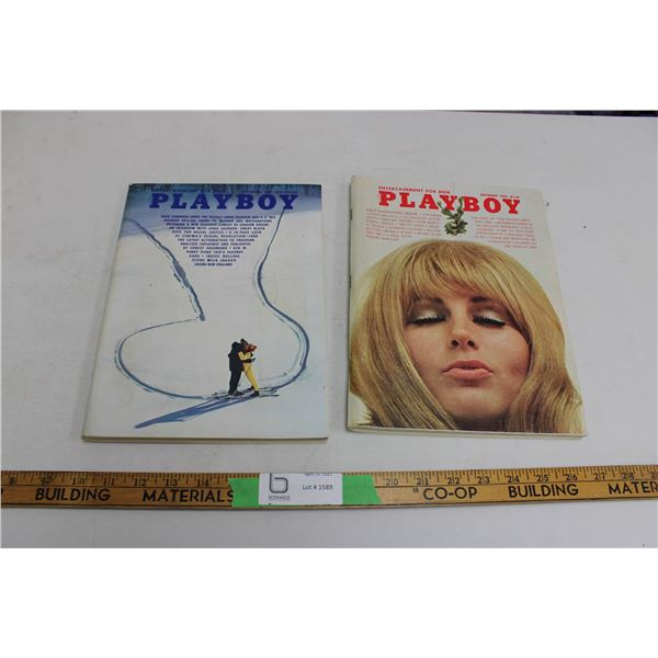 (2X THE MONEY) 1969 November and December Playboys