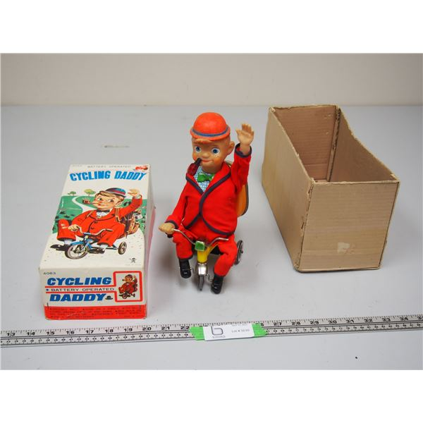 Battery Operated Cycling Daddy (just pipe lights up) with Original Box