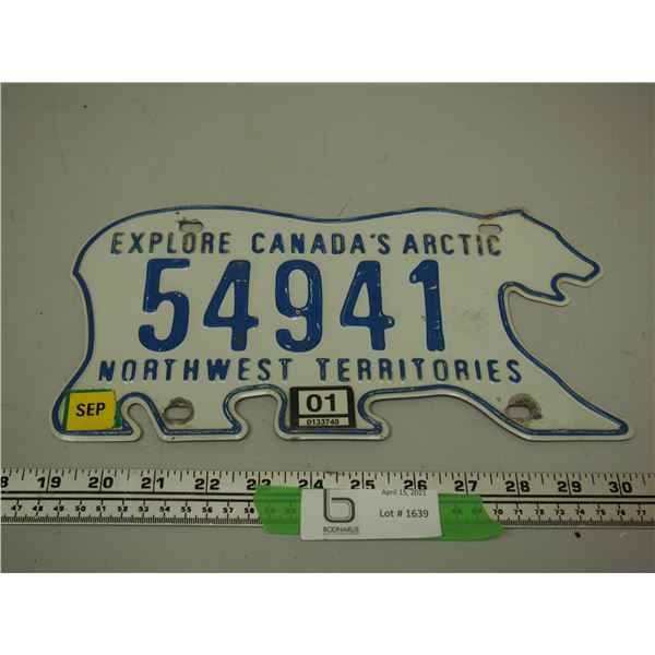 NWT Licence Plate