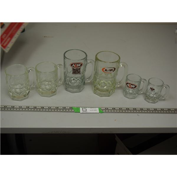 (6) A & W Mugs (one has chip)