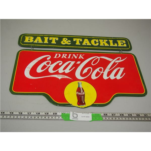 "2 pc Coca Cola Tin Sign (13 3/4"" x 18"")"