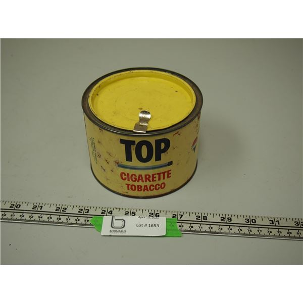 Top Cigarette Tobacco Tin