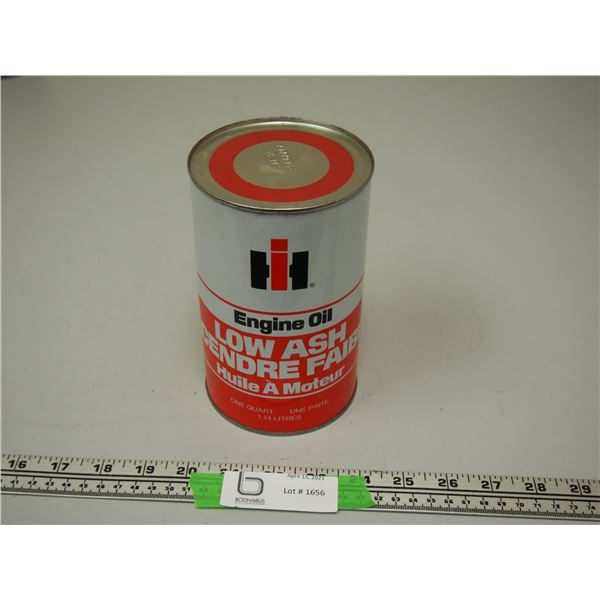 IH Engine Oil One Quart Oil Can (empty)
