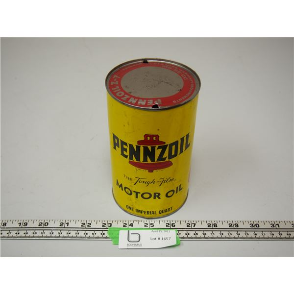 Pennzoil Motor Oil One Quart (empty)