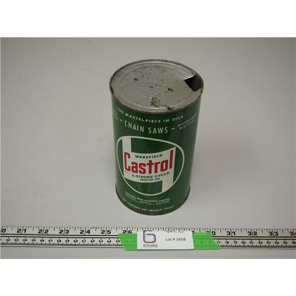 Castrol On Quart Motor Oil Can (empty)