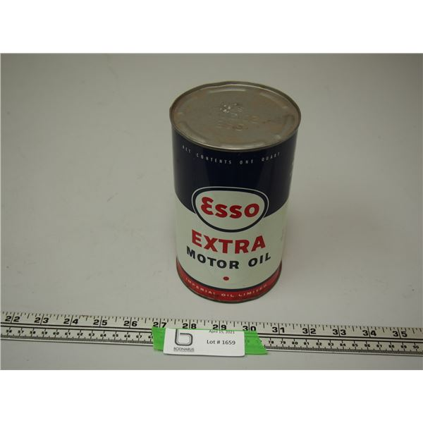 Esso Extra Motor Oil One Quart Can (empty)