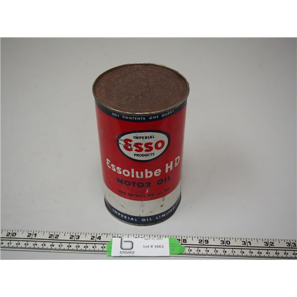 Esso Lube HD Motor Oil One Quart Can (empty)