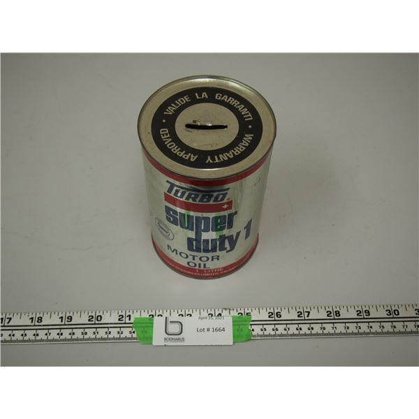 Turbo Super Duty Motor Oil 1 Litre Can (empty)