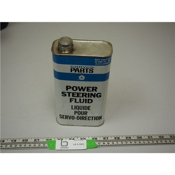 Chryco Parts Power Steering Fluid 40 fl oz can (empty)