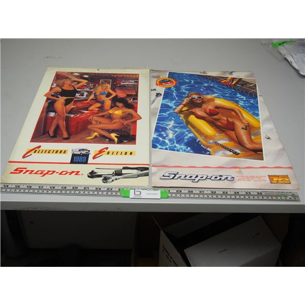 (2X THE MONEY) Snap On Calendars 1989, 90