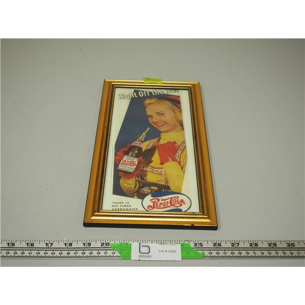 "1941 Double Dot Pepsi Framed Ad (7.5"" x 13 1/4"")"