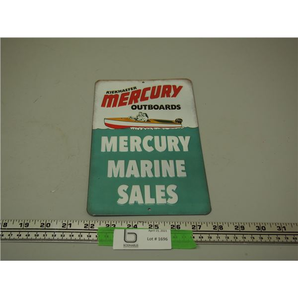 "Mercury Outboard Tin Sign (6"" x 9 3/4"")"