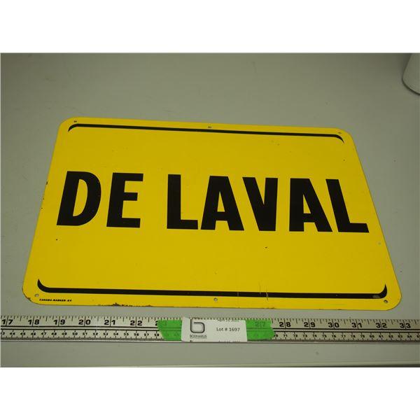 """De Laval Tin Sign (12"""" x 6"""" long)"""