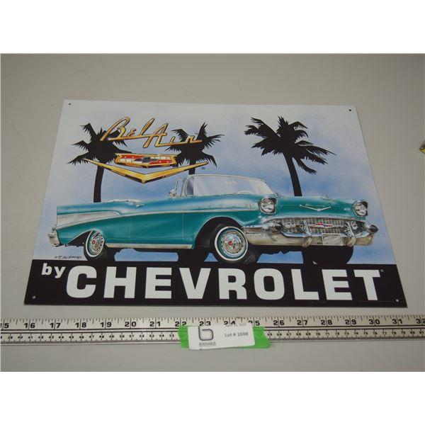 "Chevrolet Belair Tin Sign (12.5"" x 16"")"