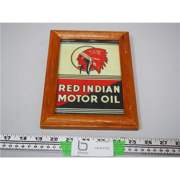 """Red Indian Motor Oil Picture in Frame (6 1/4"""" x 8 1/4"""")"""