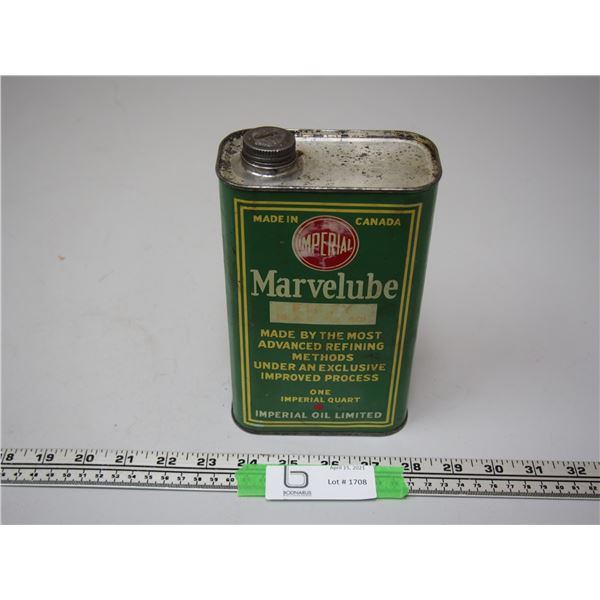 Imperial Marvelube Oil Can 1 Imperial Quart (Empty)