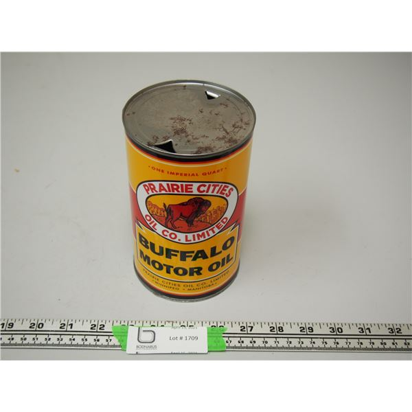 Buffalo Motor Oil One Imperial Quart Can (empty)