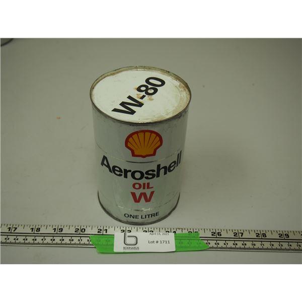 Aeroshell Oil W W-80 One Litre Oil Can (Full)