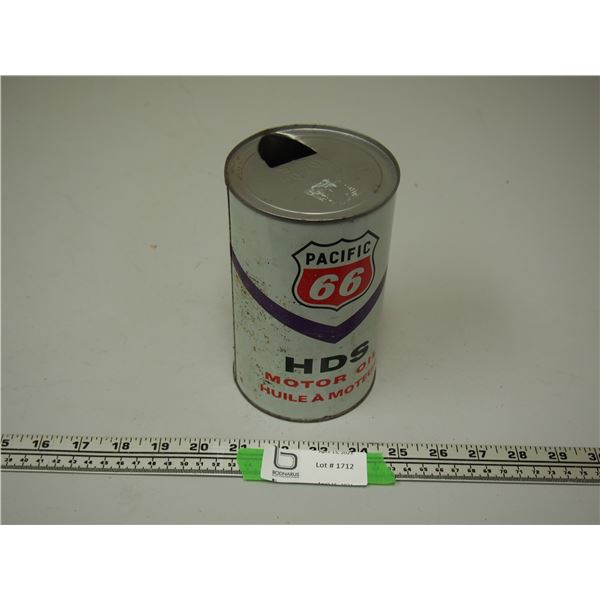 Pacific 66 HDS Motor Oil 1 Litre Can (empty)