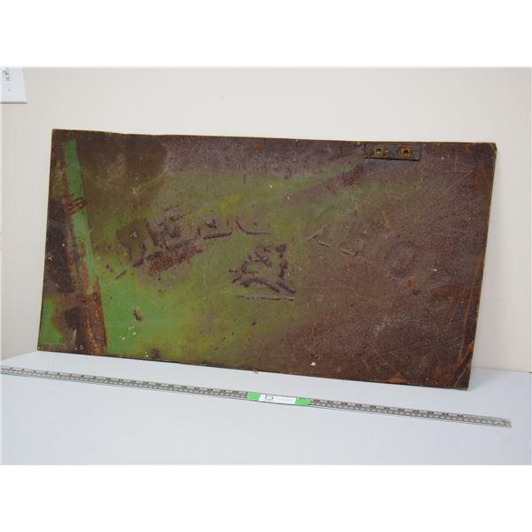 """Vintage John Deere Cover Plate (18"""" x 34 3/4"""")"""