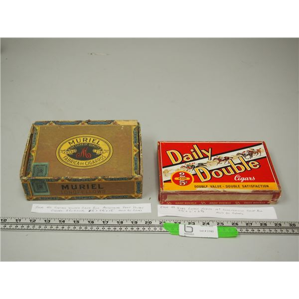 (2X THE MONEY) Rare Muriel 10 cent Longfellow Cigar Box and Vintage Daily Double Cigar Box 2 for 5c
