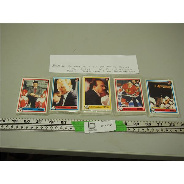 The First Issue of 7th Inning Sketch WHL Cards 5 pkg Sealed Rookie Cards? over 100 cards total
