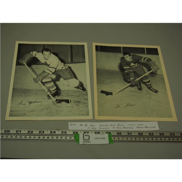 "(2) 8"" x 10"" Quaker Oats Photos 1945-1954"
