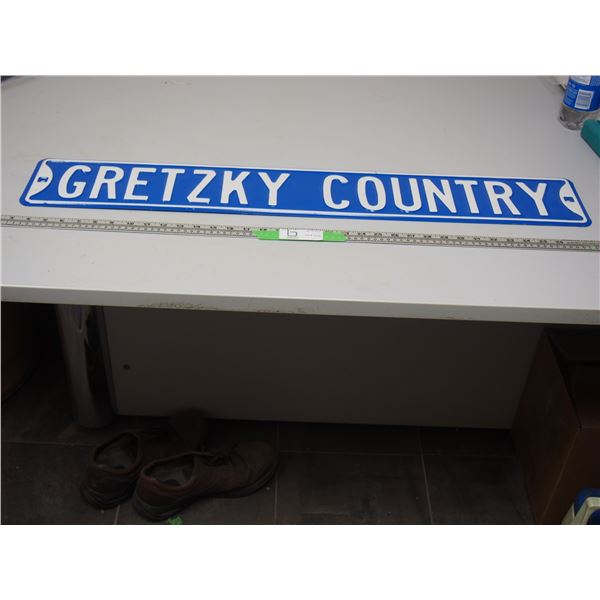 """Gretzky Country Metal Sign (6"""" x 36"""")"""
