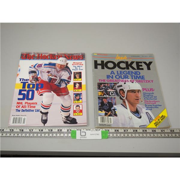 The Hockey News Oct Nov 1989, and The Hockey News Collector's Issue The Top 50 NHL Players All Time