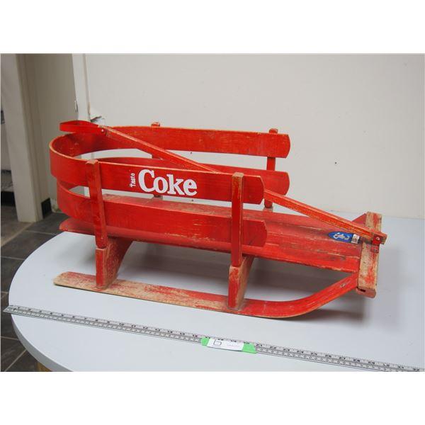 Vintage Coke, Kids Wooden Sled