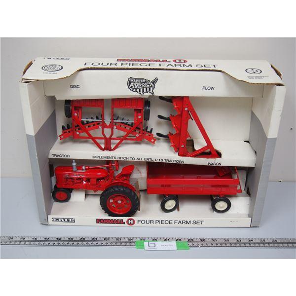 Ertl Farmall H Four Piece Farm Set (NIB) 1991 1/16 Scale