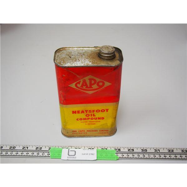 Capo Neatsfoot Oil Compound 1/2 full 32 oz Tin