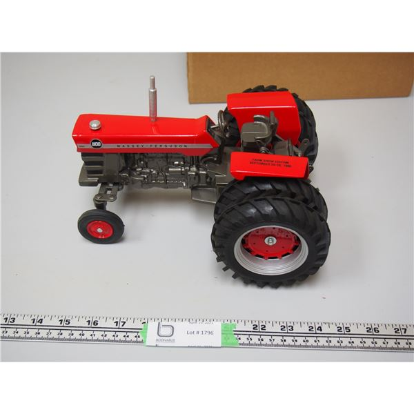 """Massey Ferguson 1100 Tractor with Duals Farm Show Edition 1995 1/16 Scale 9"""" long"""