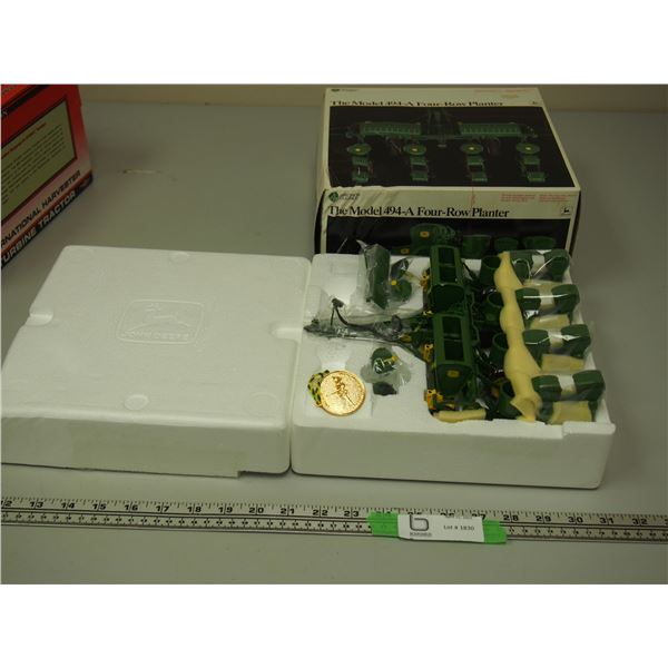Precision Classics John Deere Model 494-9 Four Row Plant in Box (Box has Damage)