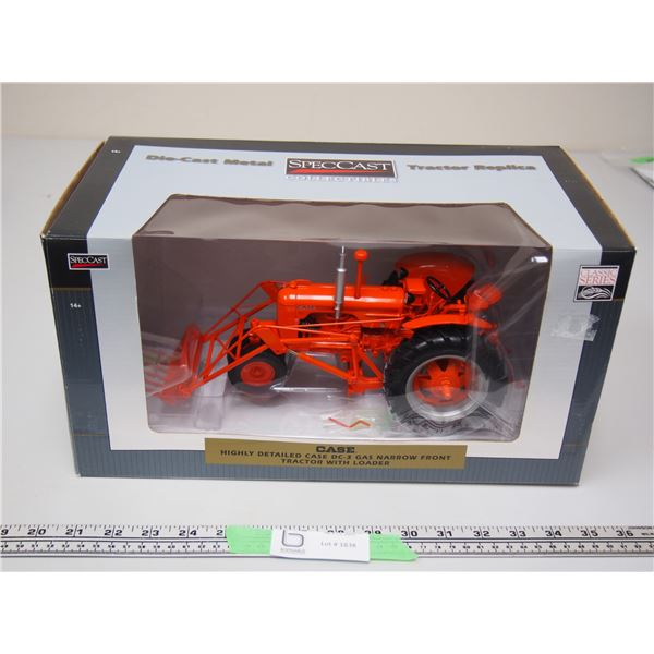 SpecCast Case DC-3 Gas Tractor with Loader Narrow Front 1/16 (NIB)