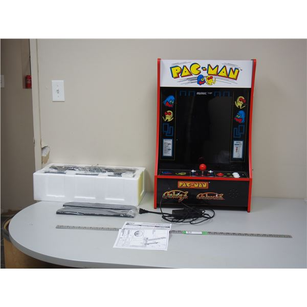 Arcade 1 Up Party Cade (works) with Instructions and Box, Pac Man Game - Added Video