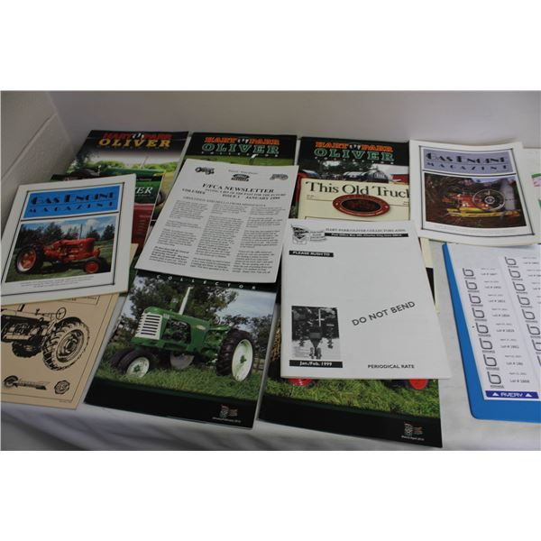 Oliver and Other Brands Collector Tractor Magazines (13 pieces)