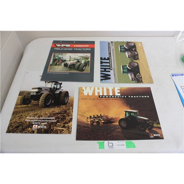 White Tractor Brochures (4 pieces)