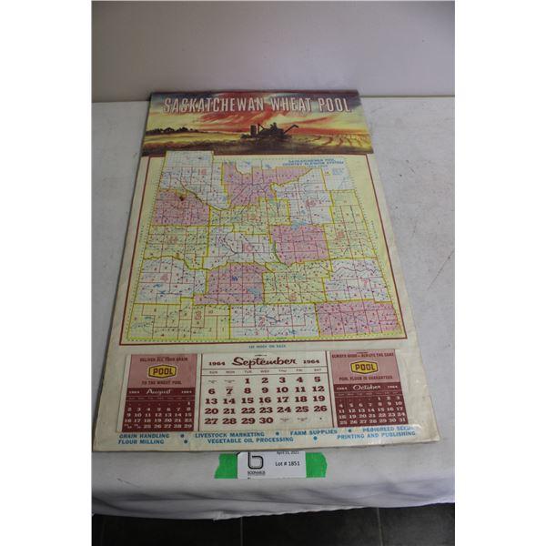 "Sask Wheat Pool 1964 Calendar 16"" x 22"""