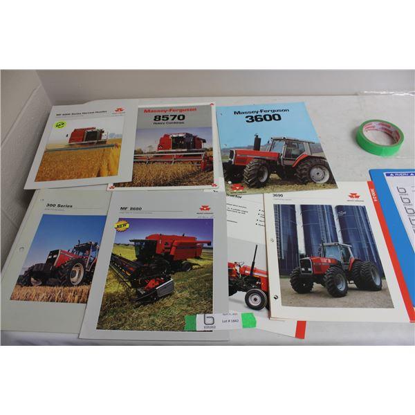 Massey Ferguson Tractor and Combine (Brochure 8 Pieces)