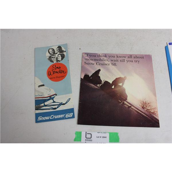 Snow Cruiser 1968 Sales Brochures (2 pieces)