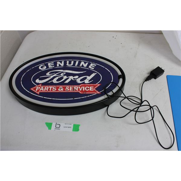 Ford Genuine Parts and Service Light Up Sign