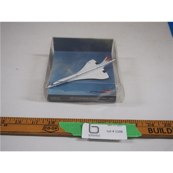 "Marks and Spencer British Army Concorde (NIB) 5 1/4"" long"