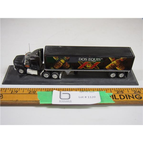 "Toy Semi and Trailer On Display Stand (7.5"" long Semi and Trailer)"