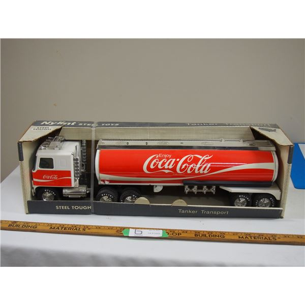 "Nylint Steel Coca Cola Tanker Transport 22"" long in Box 1991"