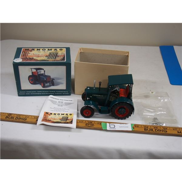 Hanomag R40 Toy Tractor In Box Mechanical Tin Toy with Key 1960's? Working Parts